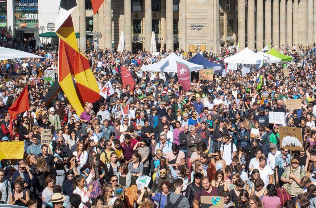 Beim globalen Klimastreik Ende September war das Interesse noch groß. 1,4 Millionen Menschen demonstrierten an dem Tag deutschlandweit. Foto: dpa/Sebastian Gollnow