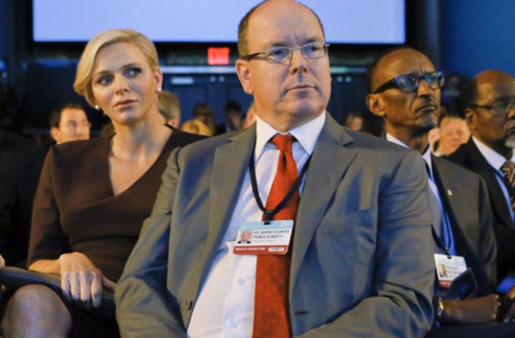 Auf Einladung der Clintons nahmen Fürst Albert und Fürstin Charlène von Monaco bei der Clinton Global Initiative in New York teil. Foto: dpa