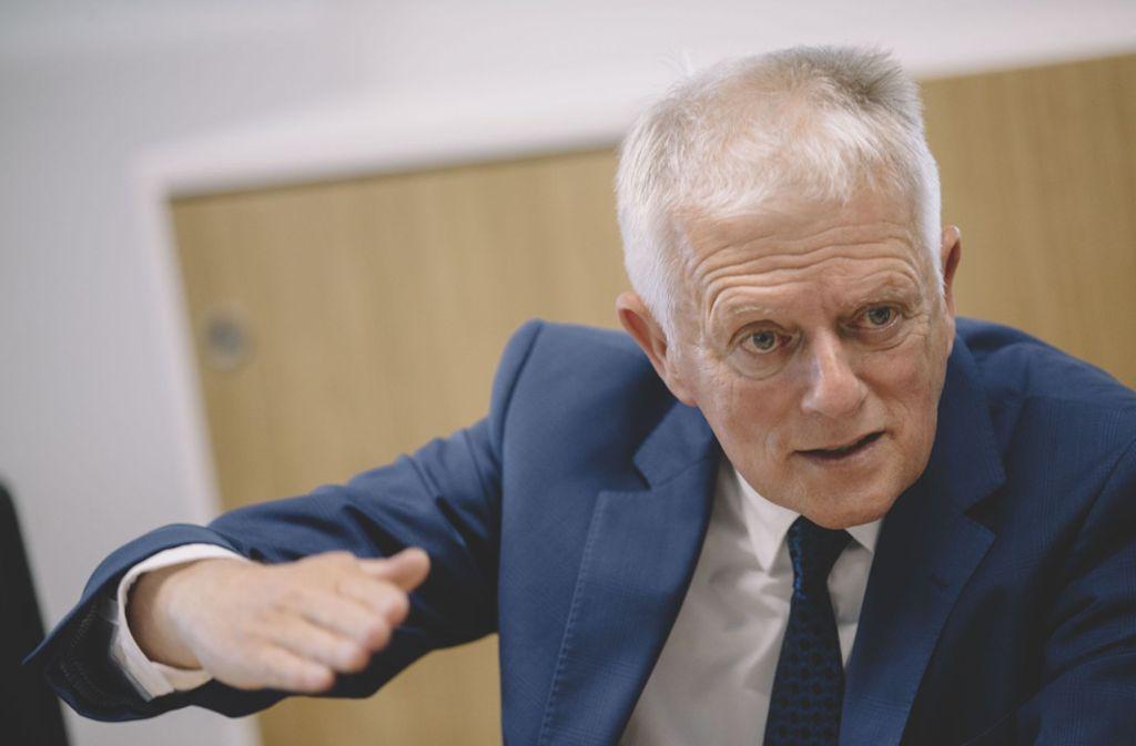 """Fritz Kuhn wehrt sich gegen den """"Kommunal-Soli"""". Foto: Lichtgut/Leif Piechowski"""
