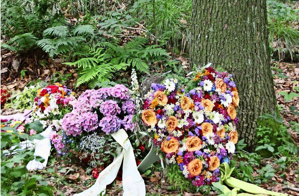 Blumen sind bei einem Baumgrab nur kurz nach der Beerdigung erlaubt. Der Vorteil: Den Angehörigen wird die Grabpflege erspart. Foto: Natalie Kanter