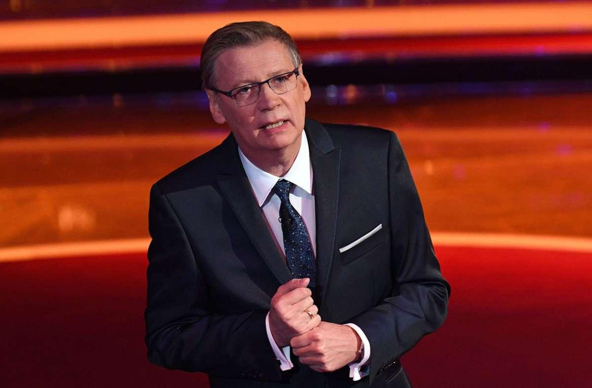 """Günther Jauch moderiert seit 1999 auf RTL die Quizshow """"Wer wird Millionär?"""" – und ist längst selbst einer. Foto: dpa/Henning Kaiser"""