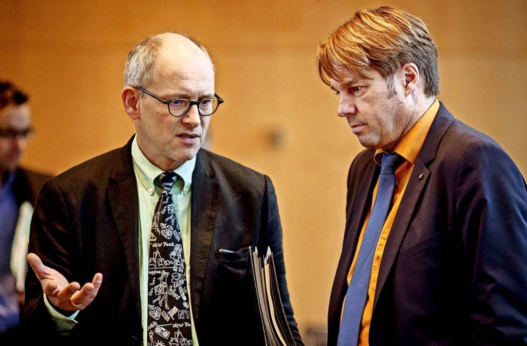 Matthias Oechsner (links) und Bernd Klingler: einst zogen sie in der FDP an einem Strang. Foto: Lichtgut/Leif Piechowski