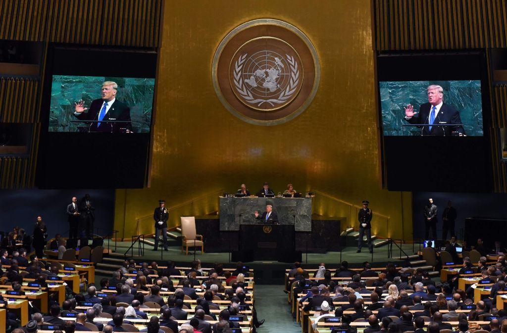 Die Generalversammlung der UN tagt zum 72. Mal – erstmals mit Donald Trump. Foto: AFP