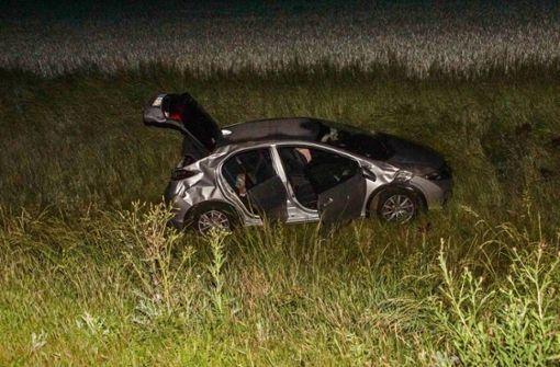 Wildunfall: Auto überschlägt sich