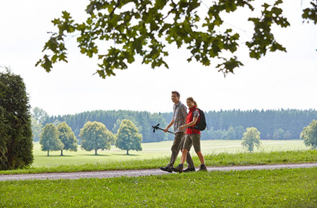 Die sanfte Hügellandschaft des Allgäus in Bad Wörishofen.  Foto: Kur- und Tourismusbetrieb Bad Wörishofen