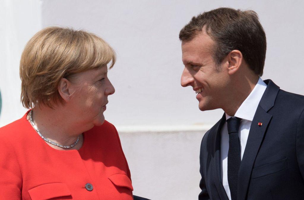 Bundeskanzlerin Angela Merkel trifft Frankreichs Staatspräsident Emmanuel Macron in Marseille. Foto: dpa