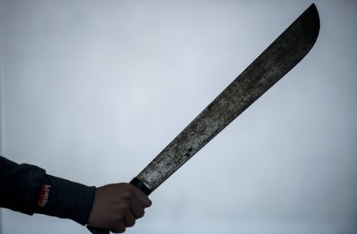 Mann bedroht Polizeibeamte mit Machete