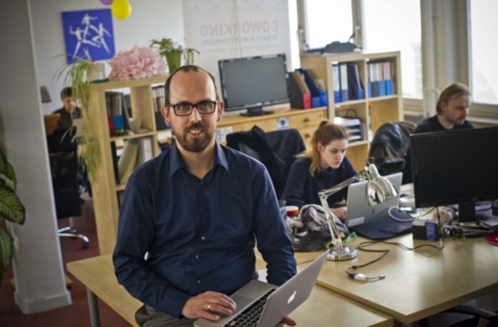 Harald Amelung weiß, wie Coworking funktioniert. Foto: Lichtgut/Max Kovalenko Foto: