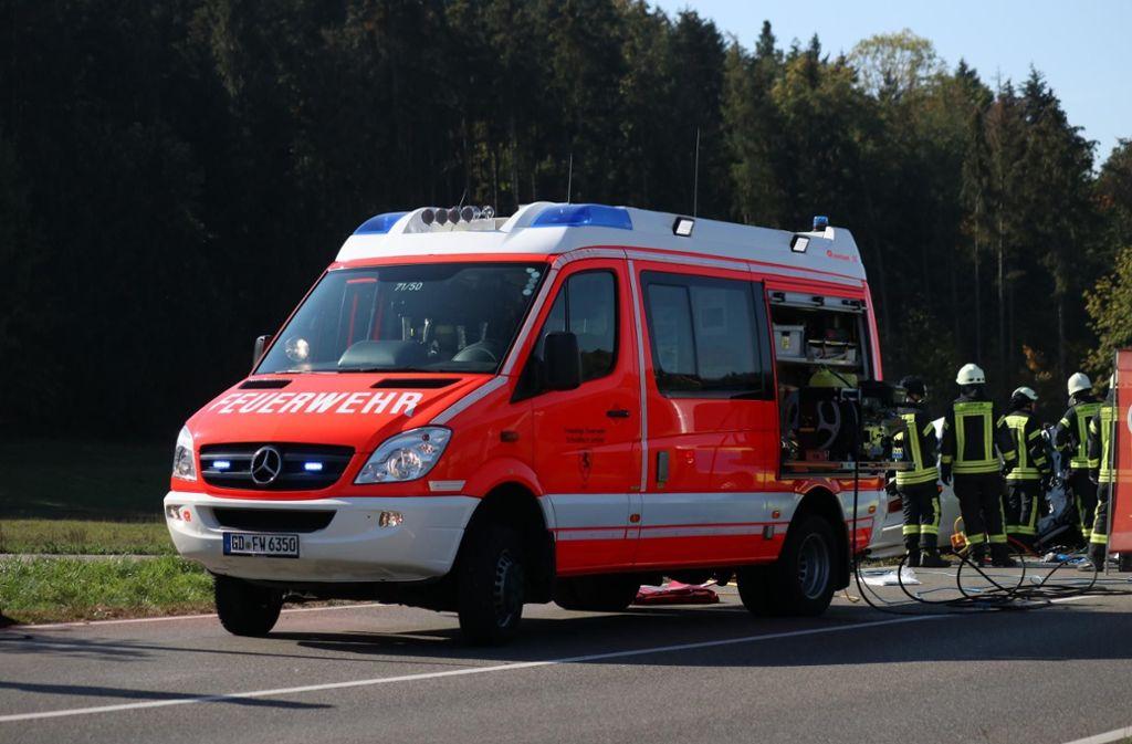 Rettungskräfte des Roten Kreuzes, der Feuerwehr und ... Foto: 7aktuell.de/Kevin Lermer