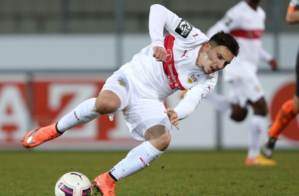 Arianit Ferati will in der zweiten Liga Fuß fassen – allerdings nicht beim VfB Stuttgart, sondern bei Fortuna Düsseldorf. Foto: Baumann