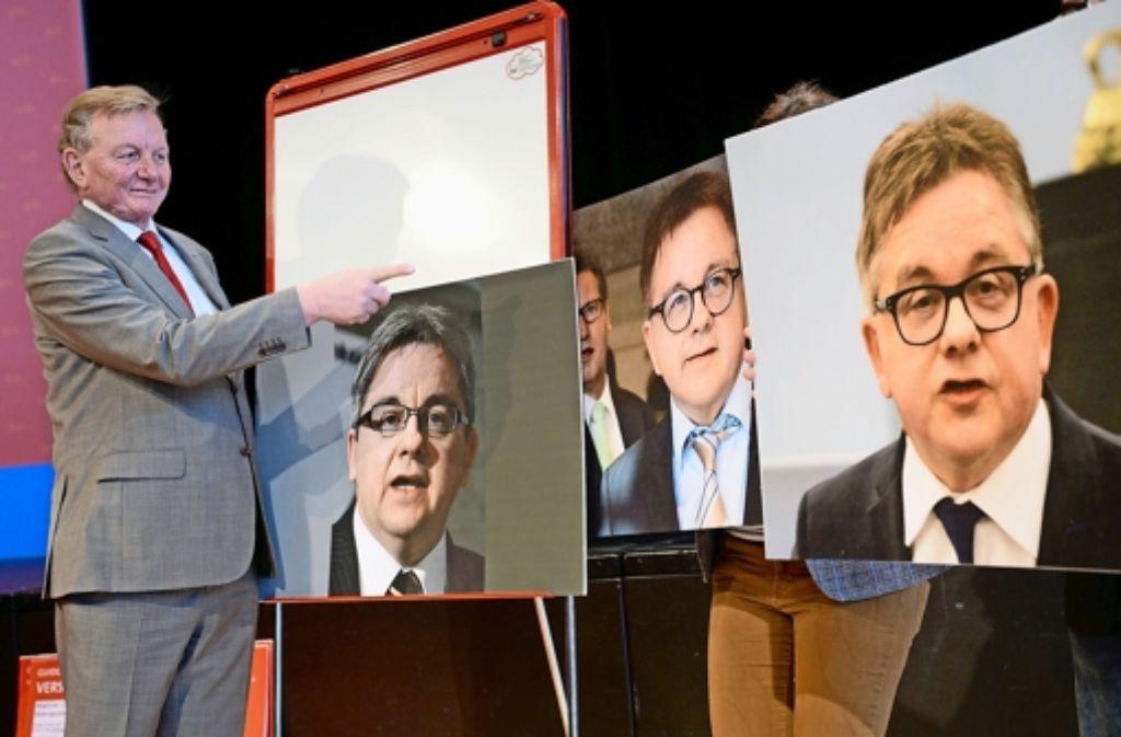 Da war die neue Eintracht noch fern: Schmiedel (SPD) spottet über Wolf (CDU) Foto: dpa