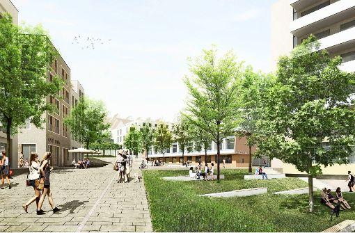 So stellen sich die Wettbewerbssieger das künftige Viertel vor. Foto: Pesch Partner Architekten Stadtplaner GmbH