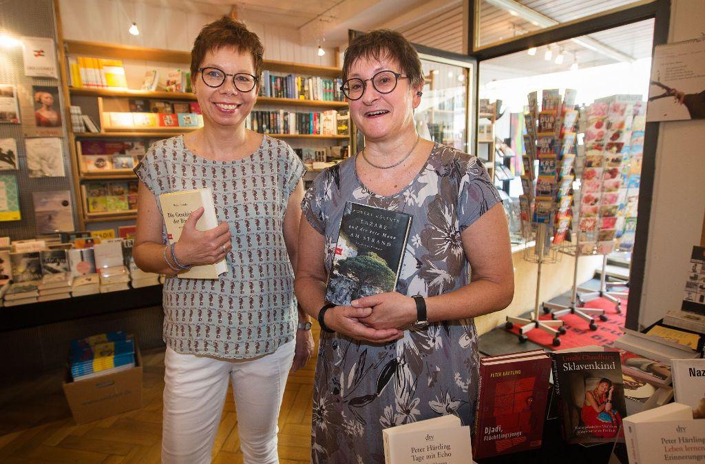 Ulrike Ehrmann (rechts) und ihre Mitarbeiterin Karin Großmeyer Foto: Ines Rudel