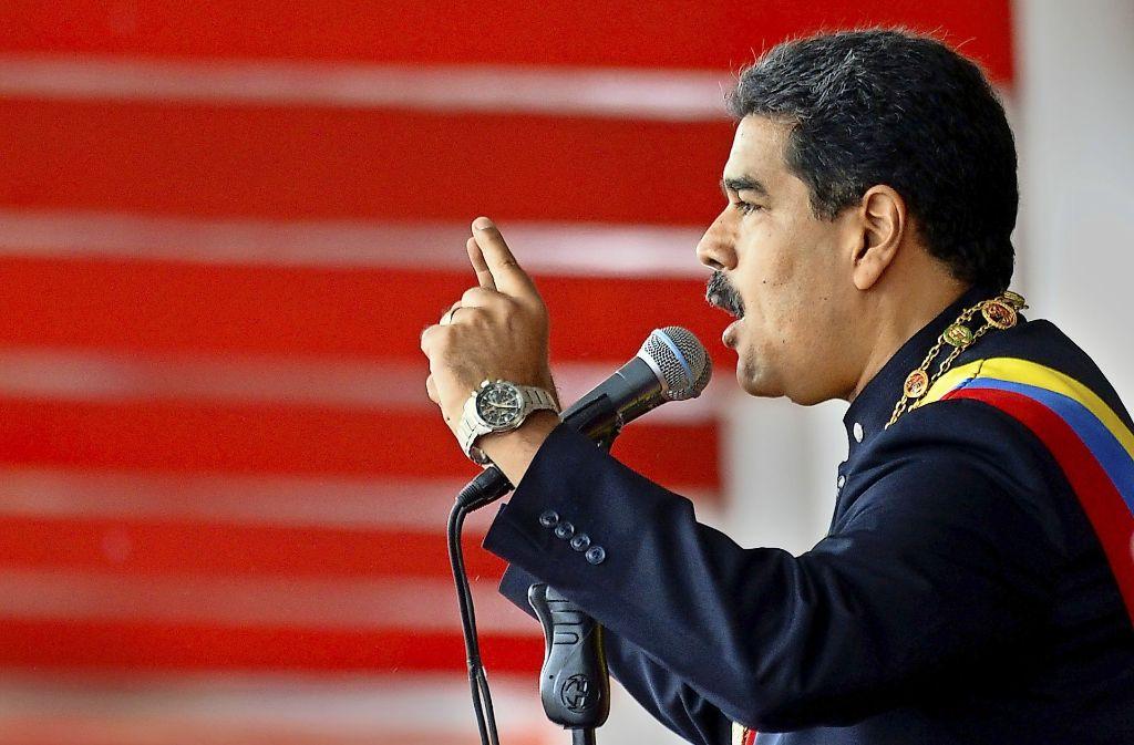 Will trotz massiver Proteste im Amt bleiben: Maduro. Foto: AFP
