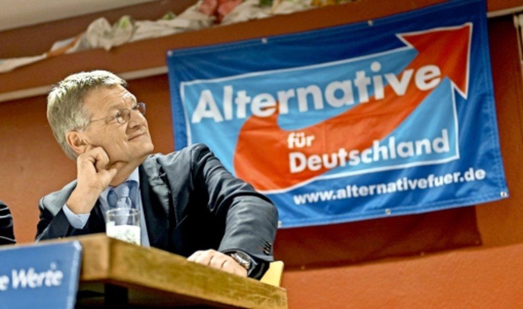 """Am """"Mut zu Deutschland"""" mangelt es Jörg Meuthen nicht. Foto: dpa"""