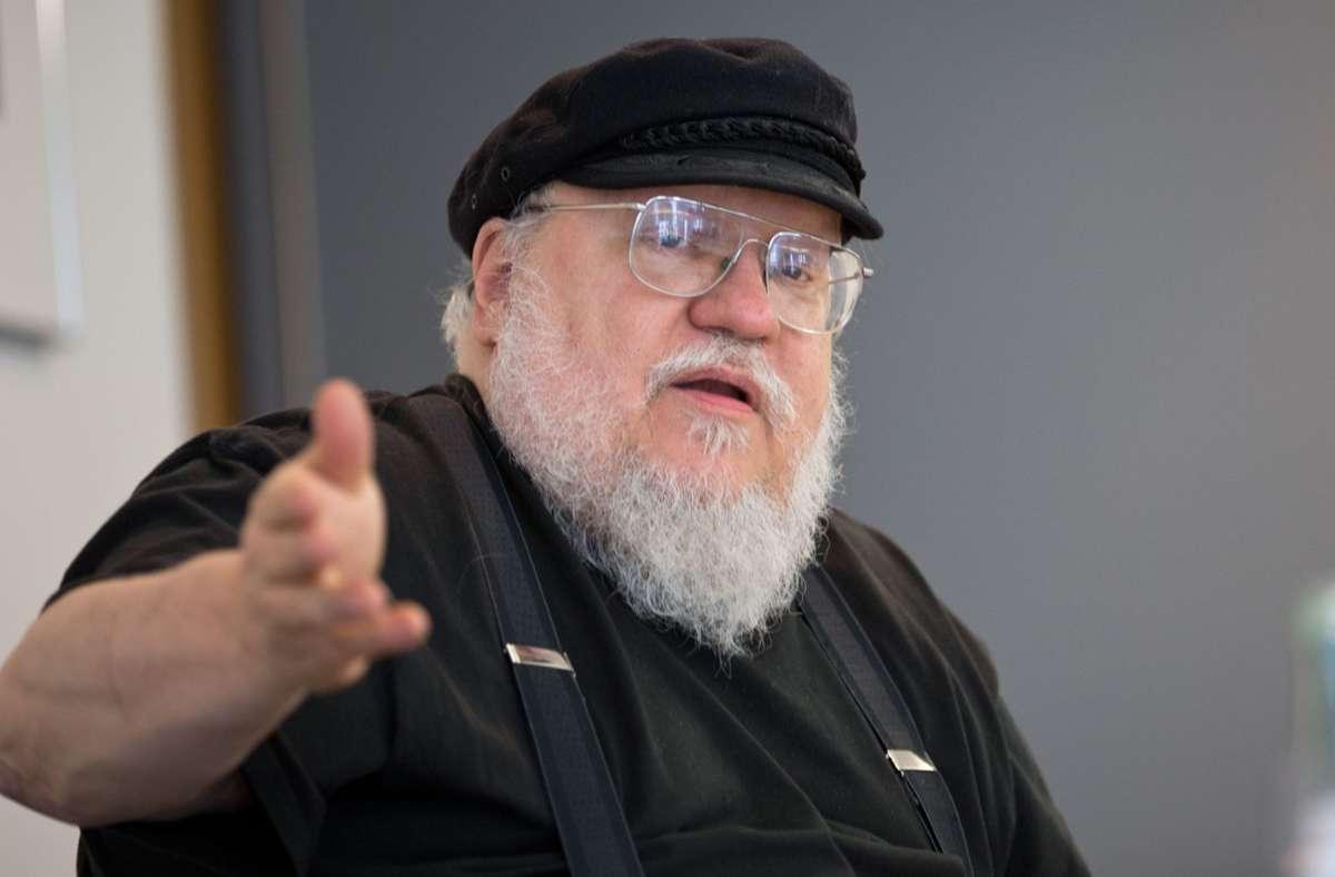 """Arbeit an der Vorgeschichte: der """"Game-of-Thrones""""-Erfinder George R. R. Martin Foto: dpa/Christian Charisius"""