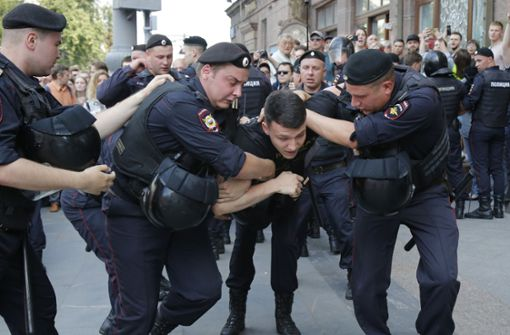 Mehr als Tausend Festnahmen bei Demonstration