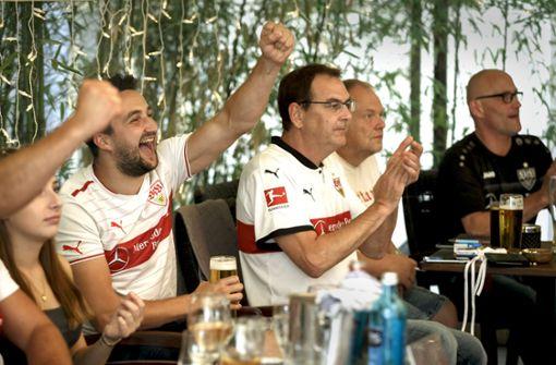 So feierten die VfB-Fans  in der Stadt den Aufstieg