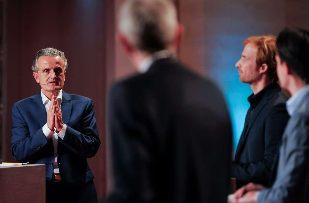Frank Nopper, Hannes Rockenbauch oder Marian Schreier (von links)? Nopper wird neuer Stuttgarter Oberbürgermeister? Foto: Lichtgut/Max Kovalenko