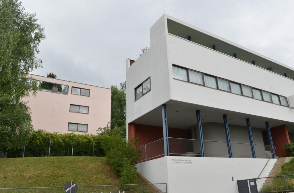 Die zwei Häuser des Architekten Le Corbusier in der Stuttgarter Weissenhofsiedlung Foto: dpa