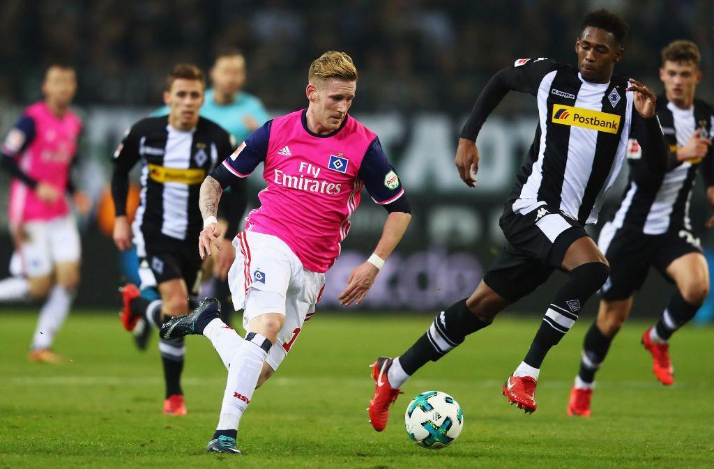 Bundesliga-Dino Hamburger SV droht erstmals seit elf Jahren auf einem Abstiegsplatz zu überwintern. Foto: Bongarts
