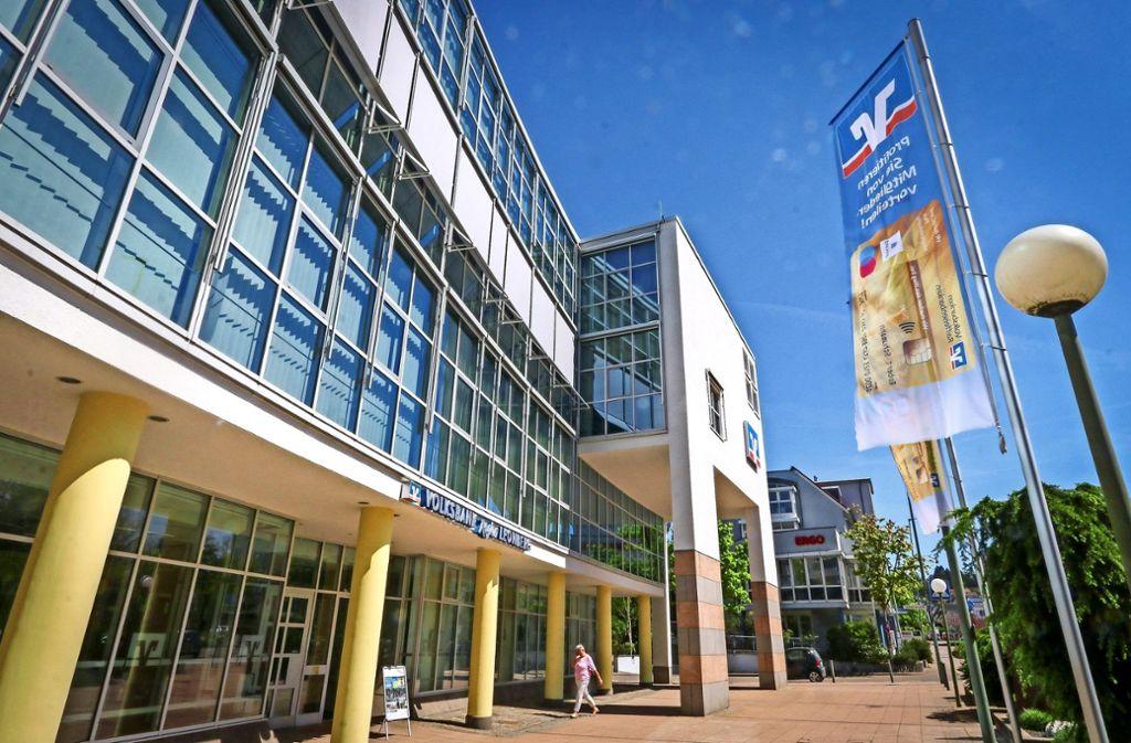 Der Hauptsitz der fusionierten   Volksbank Leonberg-Strohgäu  wird in Leonberg in der Römerstraße sein. Foto: factum/Granville