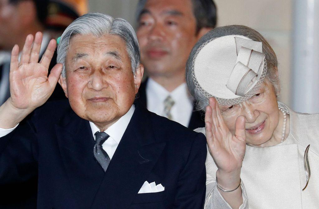 Akihito ist der erste Kaiser, der seit 200 Jahren zurück tritt. Foto: AFP