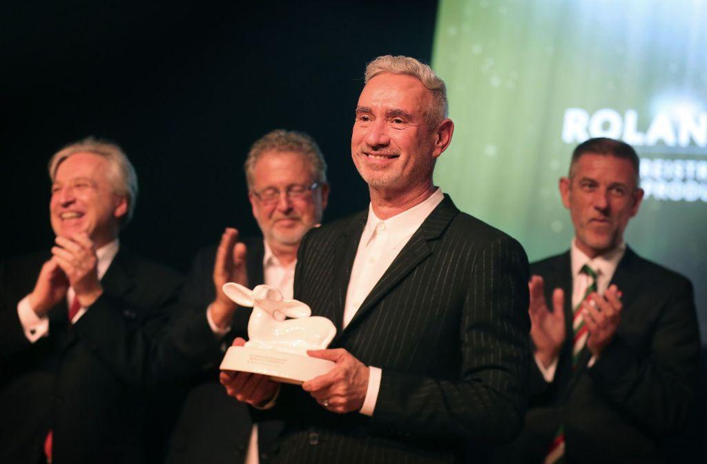 Hollywood-Star Roland Emmerich hat in Laupheim den ersten Carl Laemmle Produzentenpreis erhalten. Foto: dpa