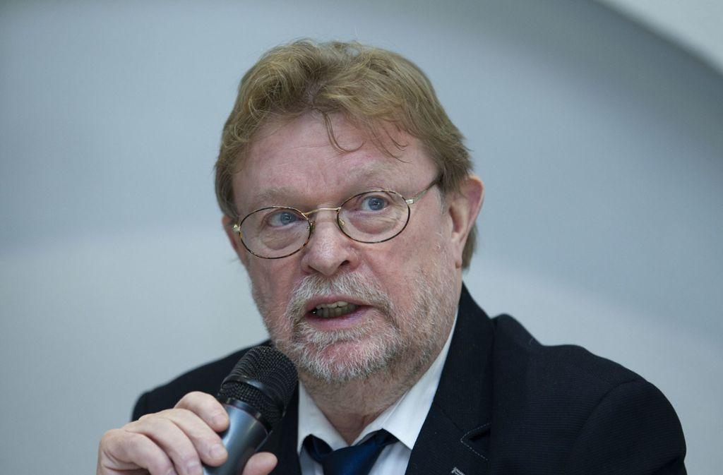 """Uwe Lahl vom Verkehrsministerium hält die Tunnelvariante für einen """"neuen, aber sehr teuren Vorschlag."""" Foto: /Leif Piechowski"""
