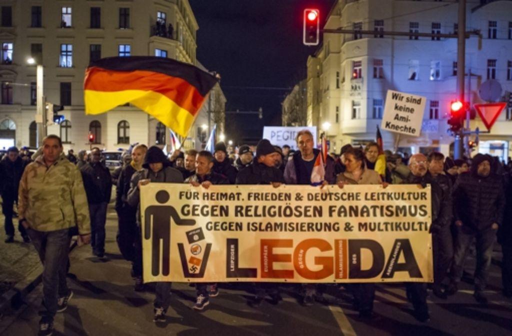 Am 12. Januar hatte es in Leipzig erstmals eine Demo des Pegida-Ablegers Legida gegeben. Foto: Getty Images Europe