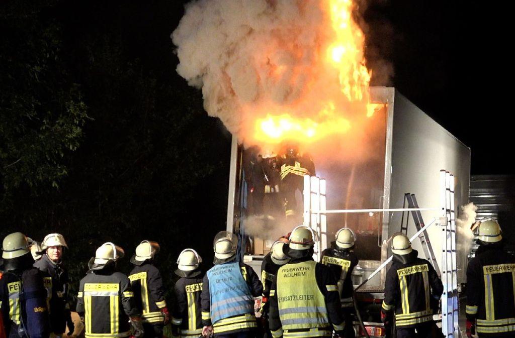 Die Feuerwehr Weilheim rückte zu dem Brand aus. Foto: 7aktuell.de/Alexander Hald