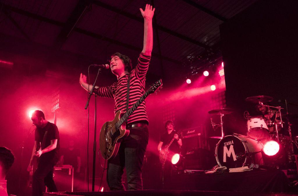 Die niedersächsische Rockband Madsen bei ihrem Auftritt im LKA/Longhorn. Foto: Lichtgut/Michael Latz
