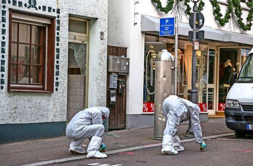 Polizei sucht Tatort in Göppingen mit Drohne ab
