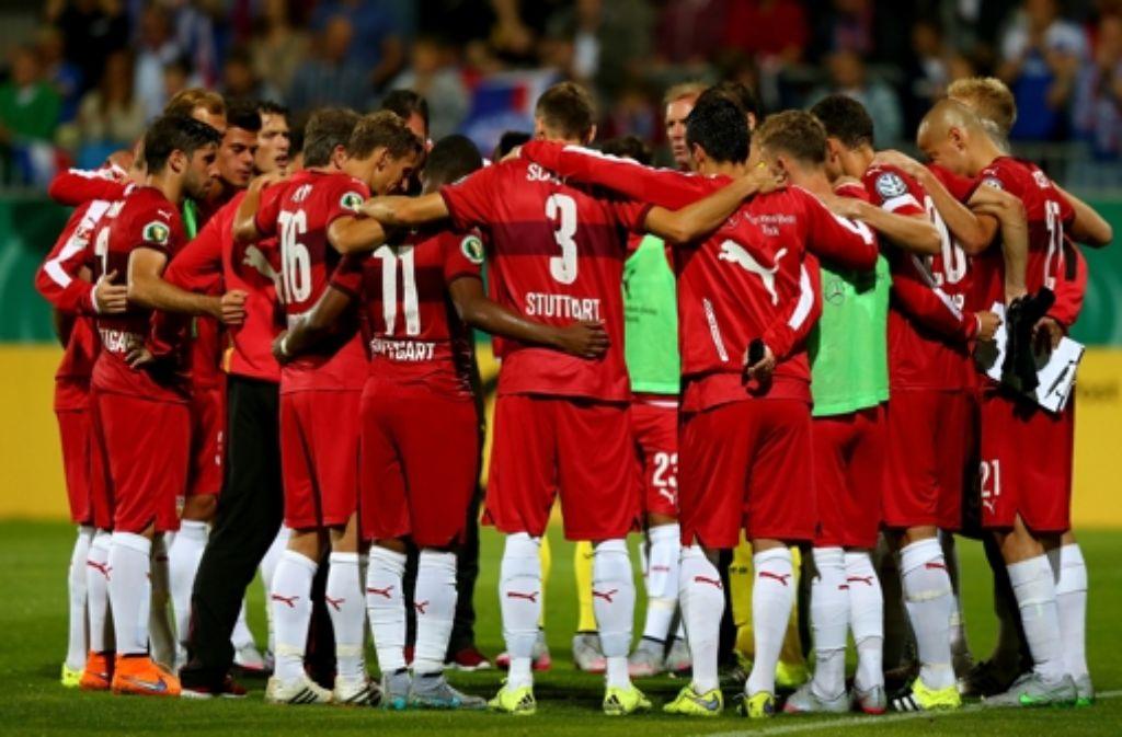 Die Spieler des  VfB bilden eine Einheit: Nach Jahren  des Abstiegskampfs herrscht bei dem Fußball-Bundesligisten eine gewisse Aufbruchstimmung. Foto: Getty