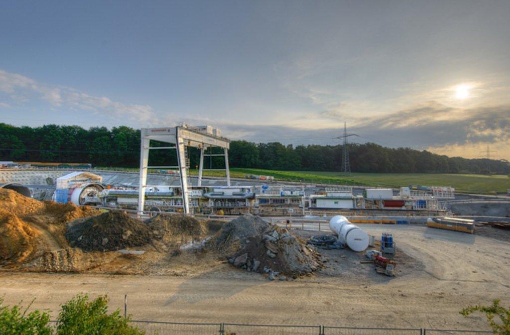 Bilder von der Fildertunnel-Baustelle im Juni gibt es in unserer Fotostrecke - klicken Sie sich durch! Foto: www.7aktuell.de | Oskar Eyb