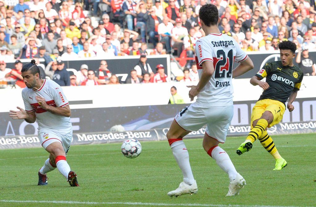Der VfB Stuttgart hat mit 0:4 gegen Borussia Dortmund verloren. Unsere Redaktion hat die VfB-Spieler wie folgt bewertet. Foto: AFP