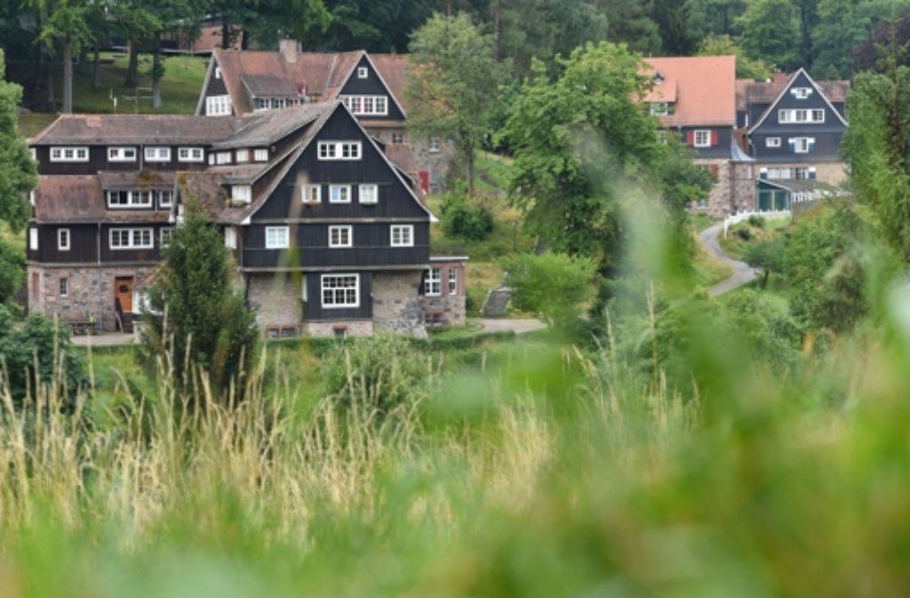 Gebäude der Odenwaldschule in Ober-Hambach. Foto: dpa