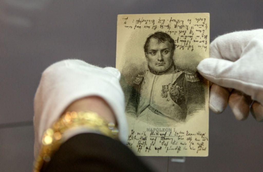 Eine der neu entdeckten Postkarten, die Thomas Mann an seinen Bruder schrieb. Foto: dpa