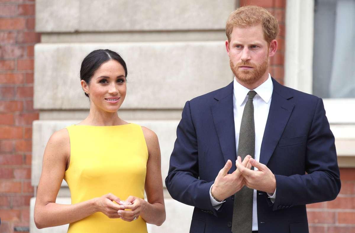 Prinz Harry einer Frau Meghan und zwei gemeinsamen Kindern in den USA. Foto: dpa/Yui Mok