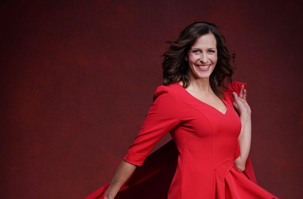 """Sehr stark sei die Konkurrenz bei """"Let's Dance"""", sagt die Kandidatin Ulrike Frank. Aber Konkurrenz belebe das Geschäft. Foto: TVNOW / Stefan Gregorowius"""