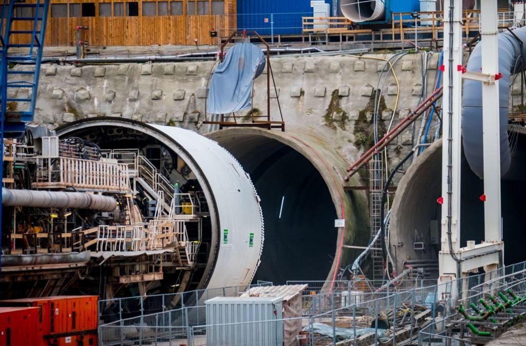 Im April 2016 stand der Tunnelbohrer vor dem Start für die zweite Röhre des Fildertunnels. Foto: Lichtgut/Achim Zweygarth