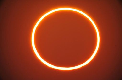 Ringförmige Sonnenfinsternis begeistert Beobachter