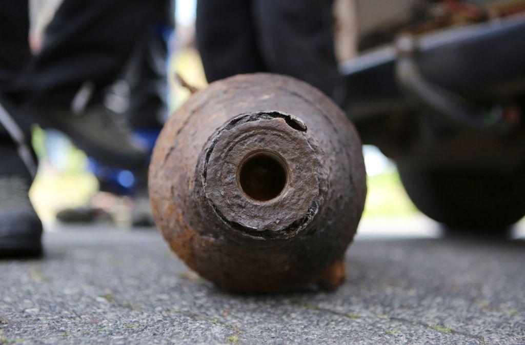 Gleich mehrere Fliegerbomben mussten in Duisburg und Recklinghausen entschärft werden. Foto: dpa