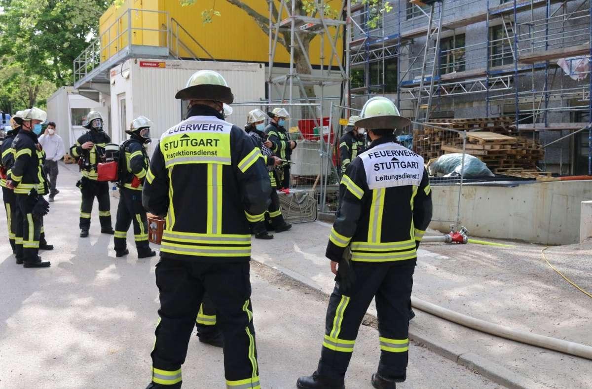 Die Feuerwehr ist in Stuttgart Ost im Einsatz. Foto: SDMG/SDMG / Pusch