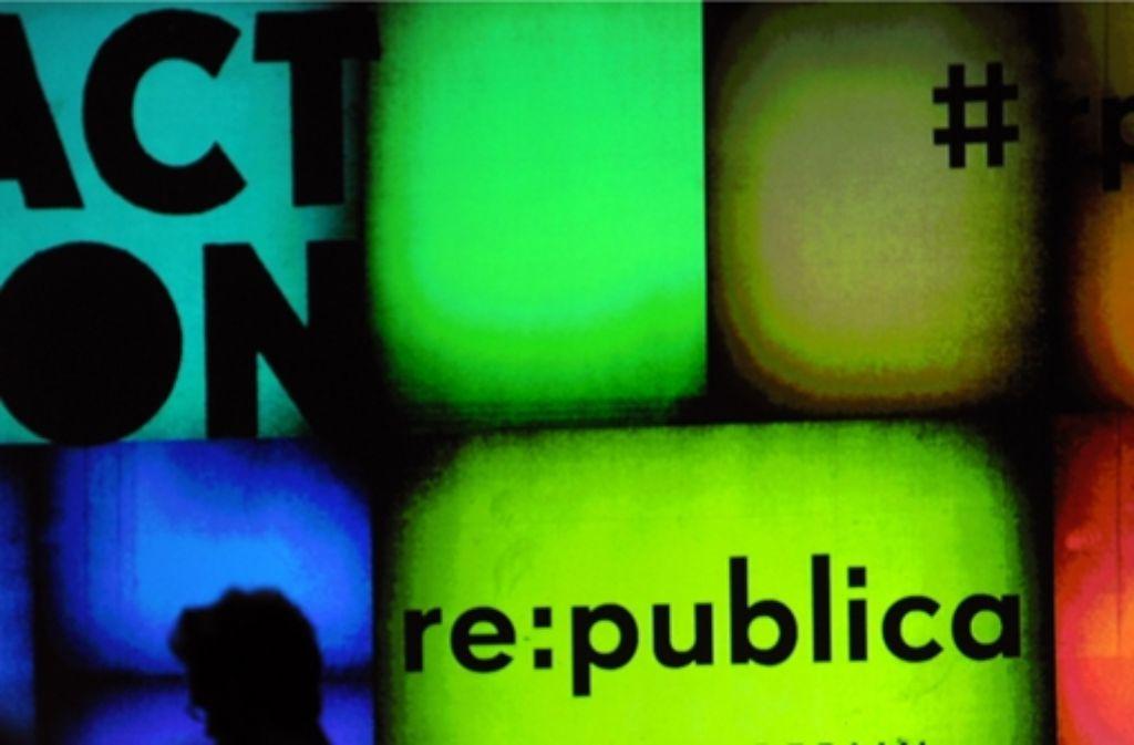 Die Republica geht am Mittwoch zu Ende. Foto: dpa
