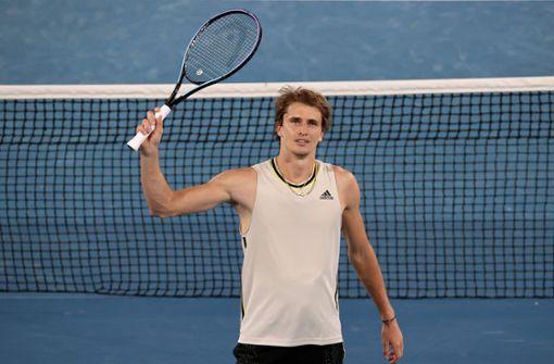Alexander  Zverev als einziger deutscher Tennisspieler in Runde drei