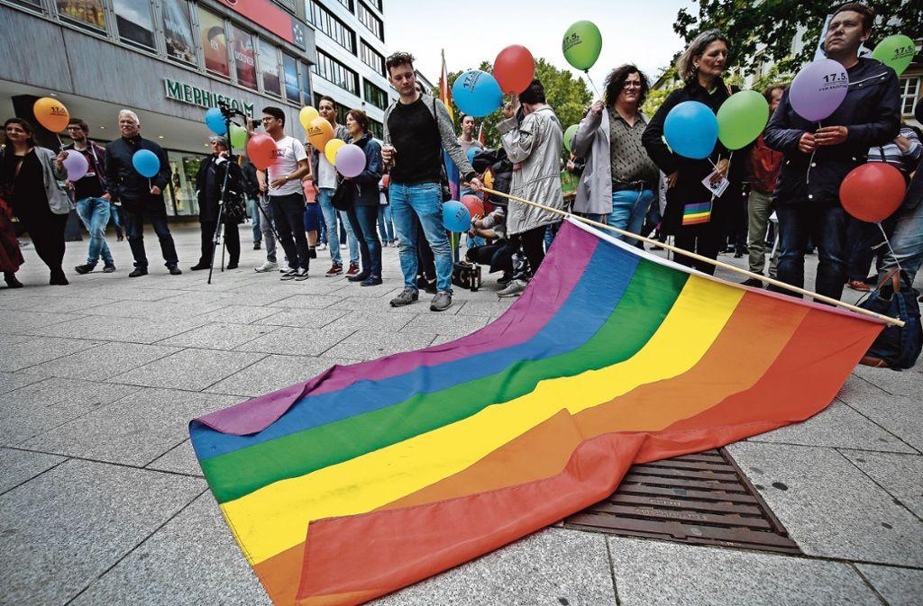 Demonstration für sexuelle Vielfalt am Freitag in Stuttgart Foto:
