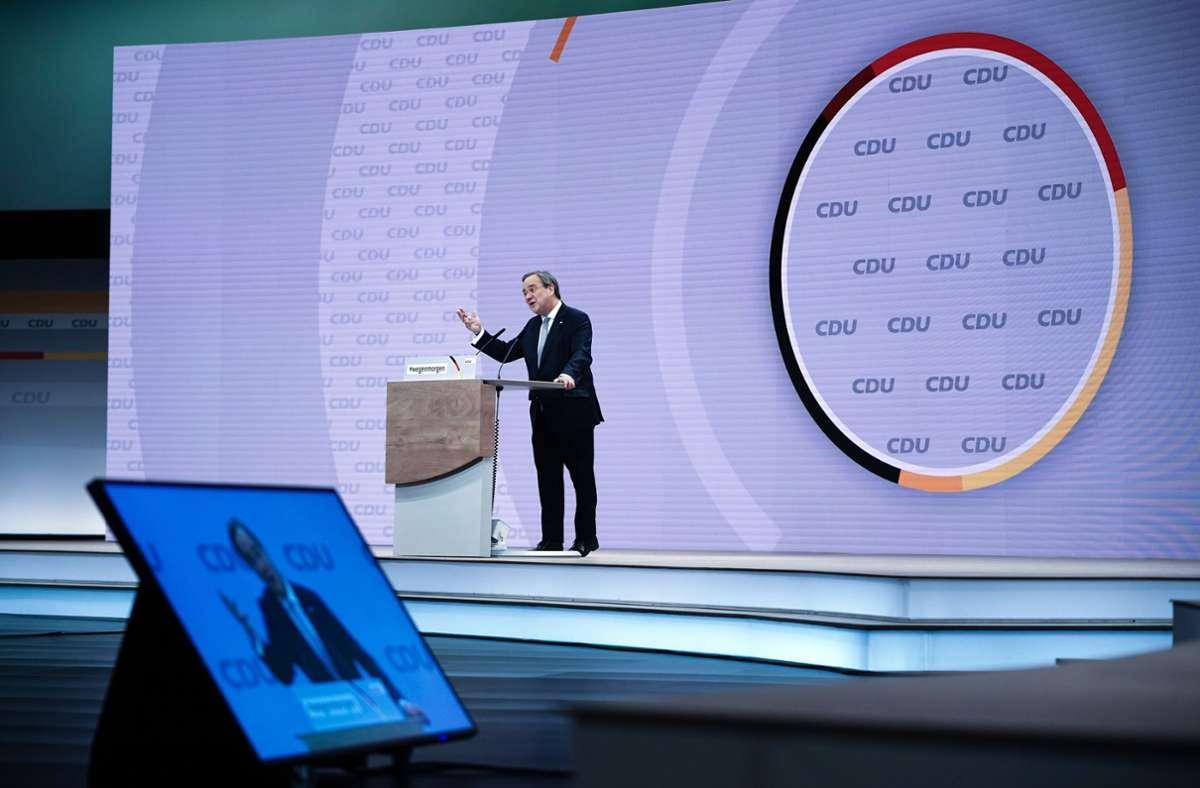 Der neue CDU-Vorsitzende Armin Laschet wird von den ostdeutschen Wahlkämpfern seiner Partei durchaus differenziert gesehen. Foto: dpa/Michael Kappeler