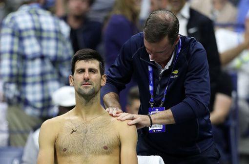 Schmerzende Schulter stoppt Djokovic