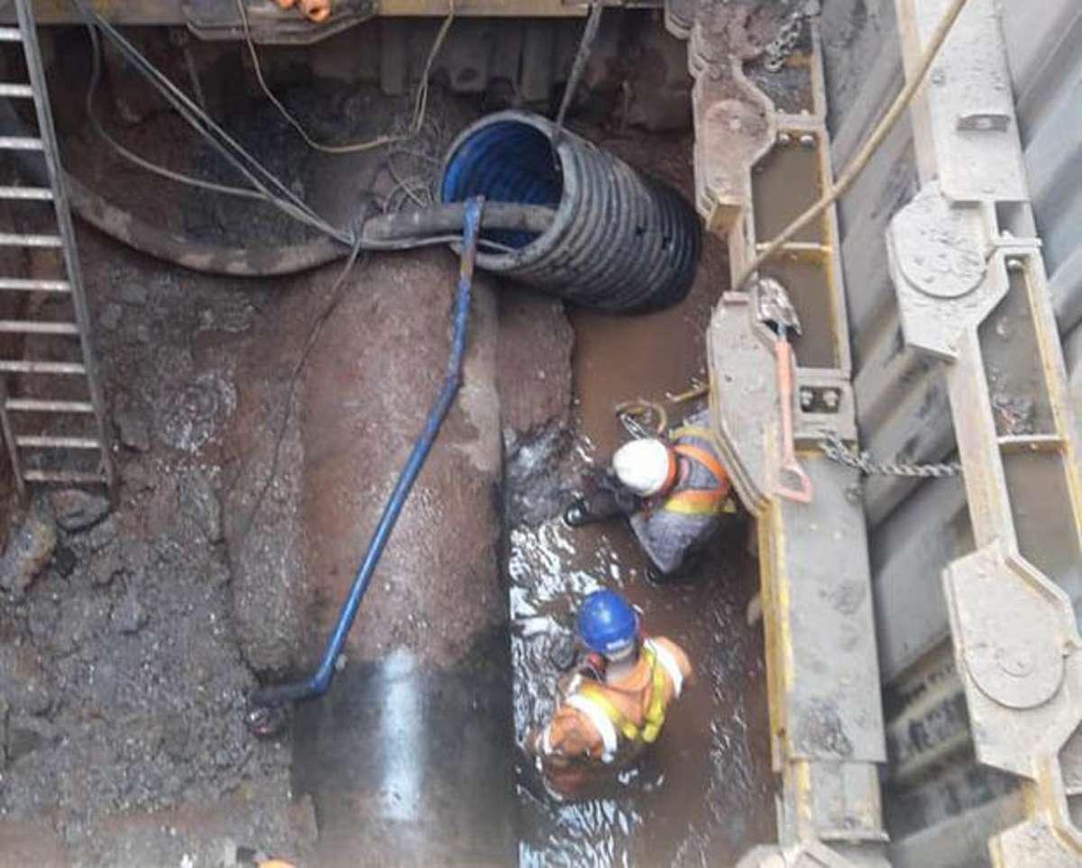 In der Kanalisation von Birmingham hat sich ein gigantischer Fettkloß gebildet. Foto: Severn Trent/PA Media/dpa